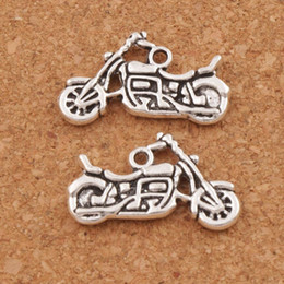 Motorcycle Spacer Charm Beads Pendants 120pcs lot 24.5x14.3mm Antique Silver Alloy Handmade Jewelry DIY L494 LZsilver