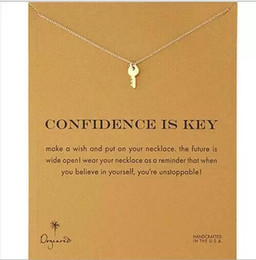 Dogeared Necklace with key(confidence is key), silver and gold color, no fade, free shipping and high quality.