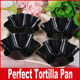 Wholesale Perfect Tortilla Pan Baking Not Fried Mold Pans Cooking Kitchen Non stick Taco Bowl DIY Kitchen Tools DHL