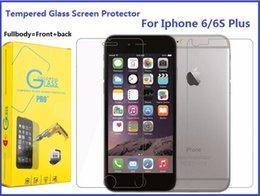 Acheter en ligne Écrans 4s-Protecteur d'écran en verre trempé Fullbody pour Iphone 6S Plus 7 Plus 5S 4S 9H Dureté Film duré Premium de 0.3 mm avec emballage de détail