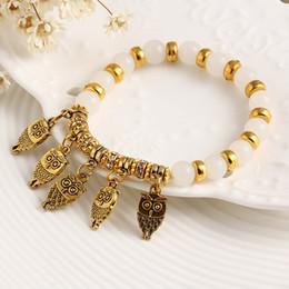 Promotion boutiques de charme Vente en gros-17KM Fashion Designer 2016 Style Eté Bonne Chance Owl Bracelet Charme Perles Bracelets Trendy Classic Bijoux Femme Cristal Boutique
