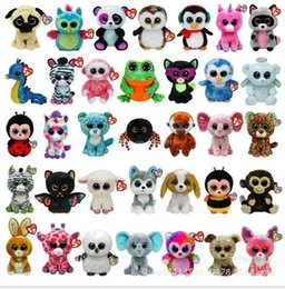 Wholesale TY beanie boos Plush Toys simulation animal TY Stuffed Animals super soft inch cm with tag children gifts L001