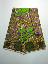 Wholesale yards Wonderful African super wax fabric most popular real batik wax fabric for party dress DH007