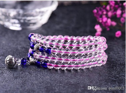 Rock Crystal Quartz bead bracelet charm bracelet pulseras mujer bohemian bracelet