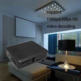 Wholesale MINI DLP Projector Home Theater Projector For TV Movie Video Games Support HDMI VGA AVI