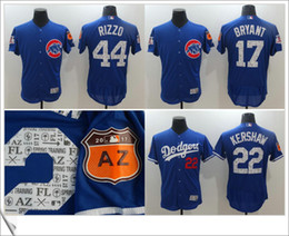 Wholesale Chicago Cubs Spring Training Kris Bryant Anthony Rizzo AZ Stitched Cool base Embroidery Mens Cheap Baseball team Pro Jerseys