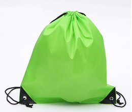 Wholesale Drawstring shopping bags Waterproof Thick Non woven Fabric Backpack Folding Shopping Bags