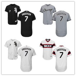 Wholesale 7 Tim Anderson Jersey MLB Baseball Chicago White Sox Jerseys Flexbase Red Black Grey White Cream size XL XL