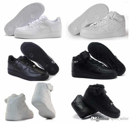Wholesale 2016 New Classical Mens Women Running Shoes Famous Trainers Force One Sport Skateboarding Shoes Forces All White Black AIR Sneakers
