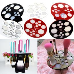 Wholesale Makeup Folding Collapsible Air Drying Makeup Brush Organizing Tree Rack Holder Avoid freight Gift