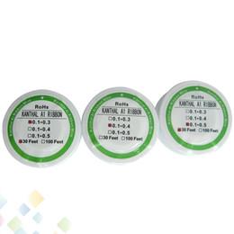Meilleur rba à vendre-Meilleur fil RIBBON résistance de chauffage bobine Wick 30 pieds fil plat pour bricolage RDA RBA atomiseur sans DHL
