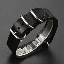 2017 bracelet en cuir véritable Vente en gros-Durable cuir véritable Deployant Watch Bracelet bandoulière bracelet Bracelets 18mm / 20mm / 22mm gros promotion bracelet en cuir véritable