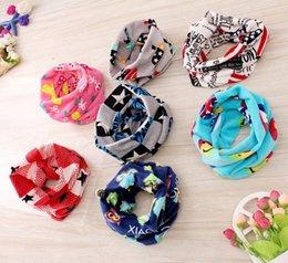 Gros Garçons Filles Kids Baby Ring Echarpe New Cute Coton Echarpes Wraps Cartoon Animal Striped Childrens Babies Enfant Accessoires à partir de foulards gros anneaux fabricateur