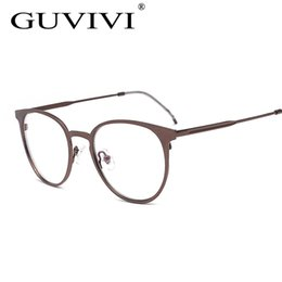 2017 or gros cadres lunettes Wholesale- Lunettes de lunettes de luxe GUVIVI 2016 Lunettes de vue en or de qualité supérieure Top Big Man Lunettes de vue de marque uv Gafas Hombre or gros cadres lunettes sortie