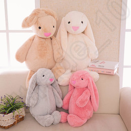 Wholesale 30cm Easter Bunny Short Plush Rabbit Toys Stuffed Cartoon Animal Doll Rabbit Plush Toys For Children LJJO1084