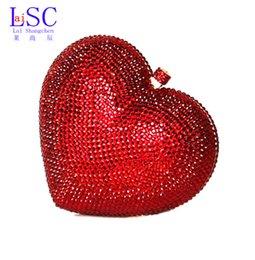 Grossiste-LaiSC sacs de luxe en cristal d'embrayage rouge coeur sac d'embrayage sac de luxe en cristal de luxe sacs femme sacs de mariage sacoche pochette SC010 women formal clutch promotion à partir de women formal clutch fournisseurs