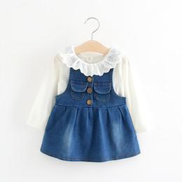 Джинсовые платья на маленьких девочек
