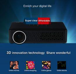 Descuento al por mayor de la ingeniería Venta al por mayor-3D minúsculo proyectores llevados proyector de 1080P HD mini para Home BusinessEducation Engineering DQW500