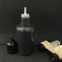 30ml Black Color E Liquid Bottle Empty 30 ml PE Soft Plastic Needle Dripper Bottles With Long Slim Tips For Vape Juice DHL