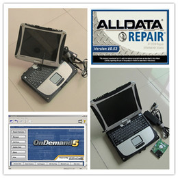 Wholesale new alldata and mitchell installed in laptop toughbook cf19 touch screen computer all data mitchell demand diagnostic data