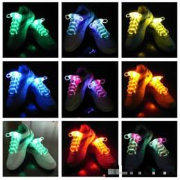 Discothèque clignotant conduit à vendre-100pcs (50 paires) lacets LED lacets de chaussures flash allumez-vous Glow Stick Strap lacets disco party skating sports glow stick