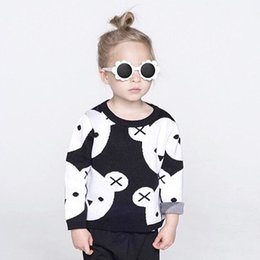 Spring Autumn Girls Boys Sweaters Children Cute Bear Double Layer Warm Knitted Cotton Pullover Kids Baby Warm Knit Jumpers Sweaters