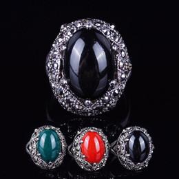 Wholesale Anillo de la joyería del anillo del hombre del tamaño grande de la piedra preciosa de la vendimia con las piedras laterales La manera al por mayor de Xuping personaliza el anillo del racimo para el regalo
