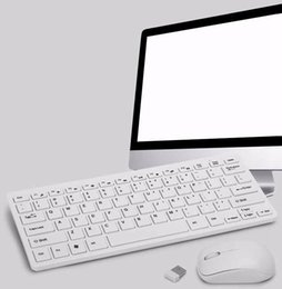 Wholesale New Fashion Optical Ultra Thin GHz Wireless USB Mini Keyboard Mouse Combos Kit for Home Office PC Laptop Desktop Computer H1