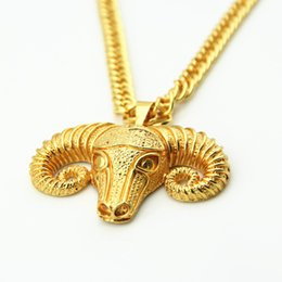 Vente chaude Nouveaux pendentifs HiP hop Colliers Street Style Goat Head Pendentif Punk Cool pour Hommes Charmes Bijoux à partir de charmes de chèvre fournisseurs