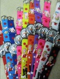 Wholesale fast shipping DHL300pcs princesselsa anna D kids wach carton children watch