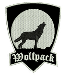 High Quality WolfPack Front Shirts Bag Embroidery Iron On Patch SEW ON Flight Suit Wholesale Price Free Badge Shipping