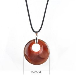 2017 Fashion Natural Turquoise Pendant Necklace Tiger Eye Rose Quartz Crystals Leather Chains Necklace Jewelry Christmas present