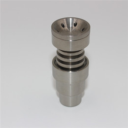 Low price titanium domeless nails gr2 quality 4 in 1 titanium domeless nail 14mm and 19mm female and male joint