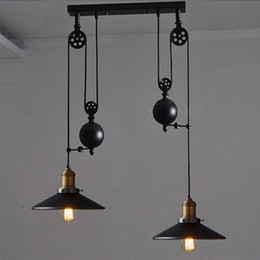 Kitchen Rise Fall Lights Kitchen Pulley Lights retro style pendant lamps rise and fall lighting hanging kitchen lamp modern pendant lights