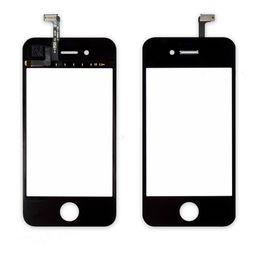 2017 iphone vidrio de alta calidad Lente de cristal delantera de alta calidad Touchscreens Digitizer para el iPhone 4 4g 4S Pantalla táctil Pantalla de cristal blanco y negro iphone vidrio de alta calidad promoción