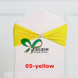 YELLOW Color Chair Sash \ Chair Band With Buckle For Spandex Chair Cover