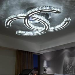 Wholesale Crystal modern led ceiling lights for living room bedroom Crystal Chandelier Lights Lamp Indoor Led Modern Ceiling Lamp Lighting Fixtures