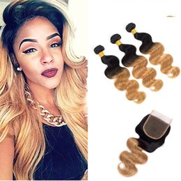 #1B 27 Body Weave Human Hair Extensions 3 Bundles with Free Part Lace Closure 8A Grade Brazilian Human Hair Unprocessed Virgin Hair