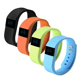 tracker d'activité de smartband Promotion TW64 Nouveau bracelet 9 couleurs Smart Band Fitness Activity Tracker Bluetooth 4.0 Bracelet Sport Smartband pour IOS Android Cellphone