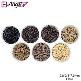GH Angel 2.8*2.3*7.0mm high quality Micro copper Ring   beads Tool For I Tip Hair Extensions 7 colors Optional 1000pcs bottle