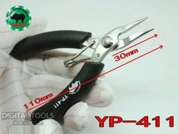 Japón RHINO Marca YP-411 110mm Long Nose Mini Alicates Super Dura Punta Desdentado Para Pesca Procesamiento Joyería Reparación Móvil Reloj desde proceso de pesca fabricantes