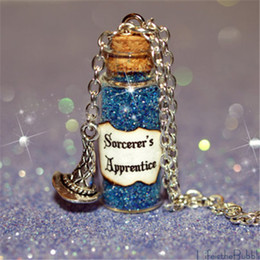 12pcs Sorcerers Apprentice Magical Necklace with Sorcerers Hat Charm, Once Upon a Time Rumpelstiltskin Inspired