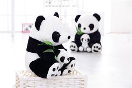 Oreillers panda en peluche à vendre-Mère et bébé panda jouets en peluche poupées en peluche Panda souple en peluche panda enfants poupée de jouets Livraison gratuite