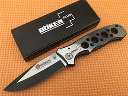 Best Price! BOKER 083BS 083 Tactical Camping utility knife 57HRC Folding Survival pocket camping knife outdoor gear knife knives
