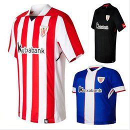 top Thai Quality Athletic Bilbao Soccer jerseys 2017 2018 Bilbao Home Red Away Green SUSAETA GURPEGUI MUNIAIN Maillot Football shirts