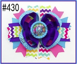 """free shipping 30pcs 4.5"""" Inspired Boutique Layered Hair Bow birthday hair bows girl hair clips -D"""
