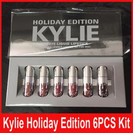 Wholesale kylie holiday edition mini kit KYLIE lipgloss Jenner Matte Liquid Lipstick Lasting best christmas gift