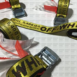 Wholesale Off white Belt Unisex Hip Hop Fashion Style Skateboard Army Military Ceinture Kanye West You Cut Me Off White Virgil Abloh Belts