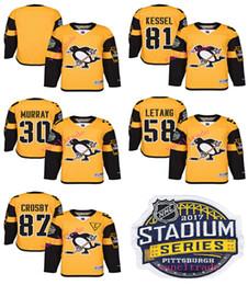 2017 Stadium Series Premier Pittsburgh Penguins Maillot 87 Sidney Crosby 30 Matt Murray 58 Kris Letang 81 Phil Kessel Maillot de hockey Mix hockey series promotion à partir de série de hockey fournisseurs
