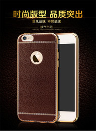Wholesale Fashion luxury leather protective mobile phone Case For iphone 7 7 plus Plating tpu soft cover coque fundas